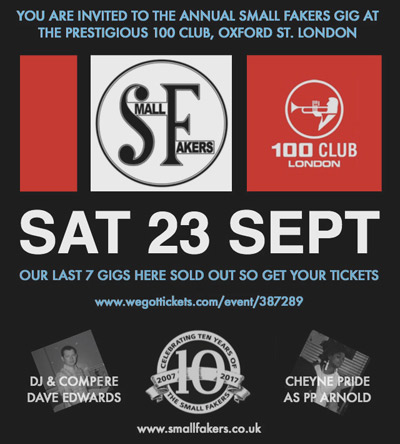Small Faces Tribute at The 100 Club