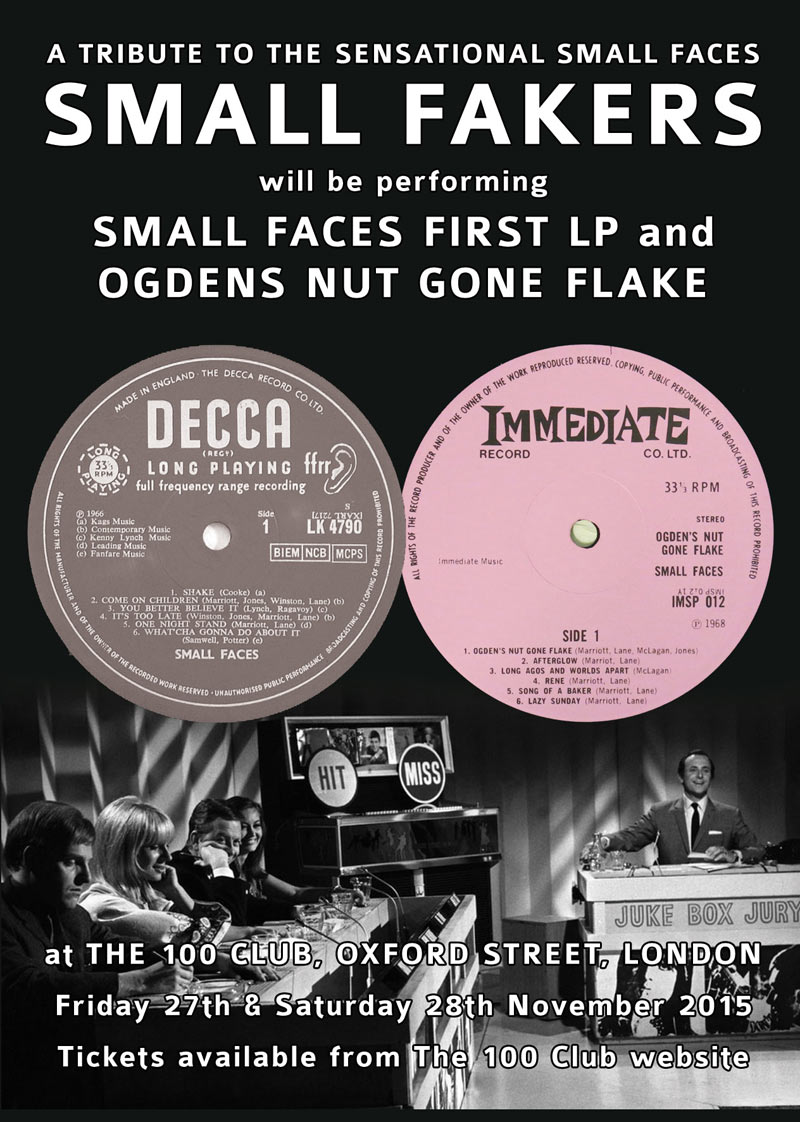 Small Faces tribute Small Fakers at The Fleece Bristol