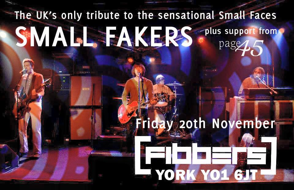 Small Faces Tribute Small Fakers in York