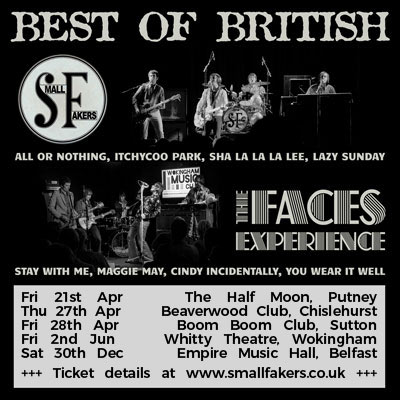 Small Fakers & The Faces Experience Putney Sutton Chislehurst Wokingham